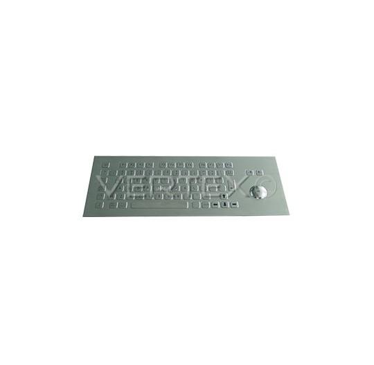 IP65 Industrial Keyboard Stainless Steel - Trackball