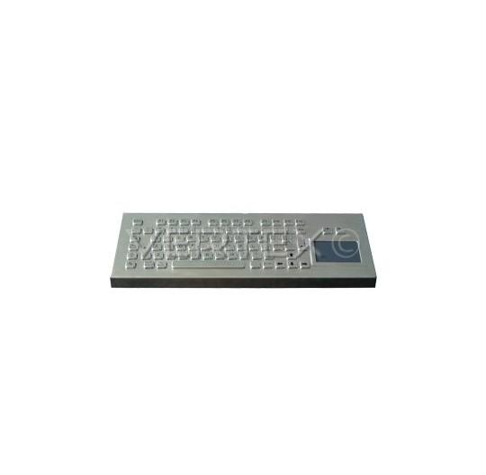 IP65 Desk Industrial Keyboard Stainless Steel - Touchpad