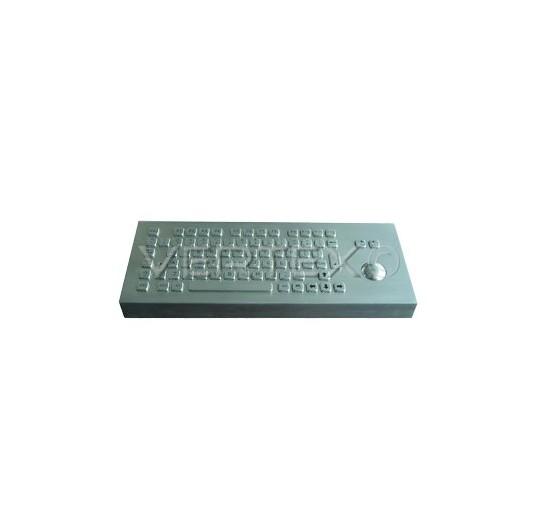 Clavier Industriel Desktop IP65 en Acier Inox - Trackball